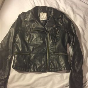 Black Dollhouse Pleather Moto Jacket